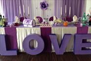 Свадебное оформление. Декор стола для молодых.