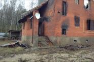 Демонтаж дома после пожара.