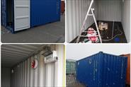Монтаж вентиляции в морской контейнер.