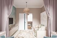 Спальня для девушки 17м2