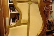 Перетяжка кресла с капюшоном