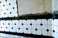 Фартук сборная мозаика с бордюрами