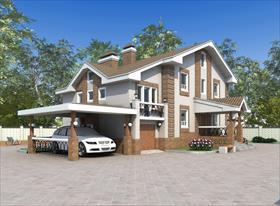 Эскиз индивидуального жилого дома