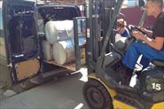 Перевозка 650 кг. плёнки на одном поддоне