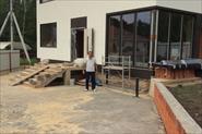 Фасад ,стяжка и тротуарная плитка