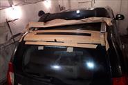 Установка нового спойлера на паджеро