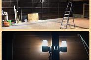 Установка освещения для дачного навесного гаража с датчиками движения