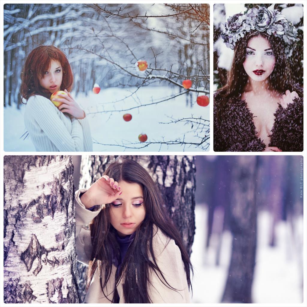 фотосессия зимой в свитере