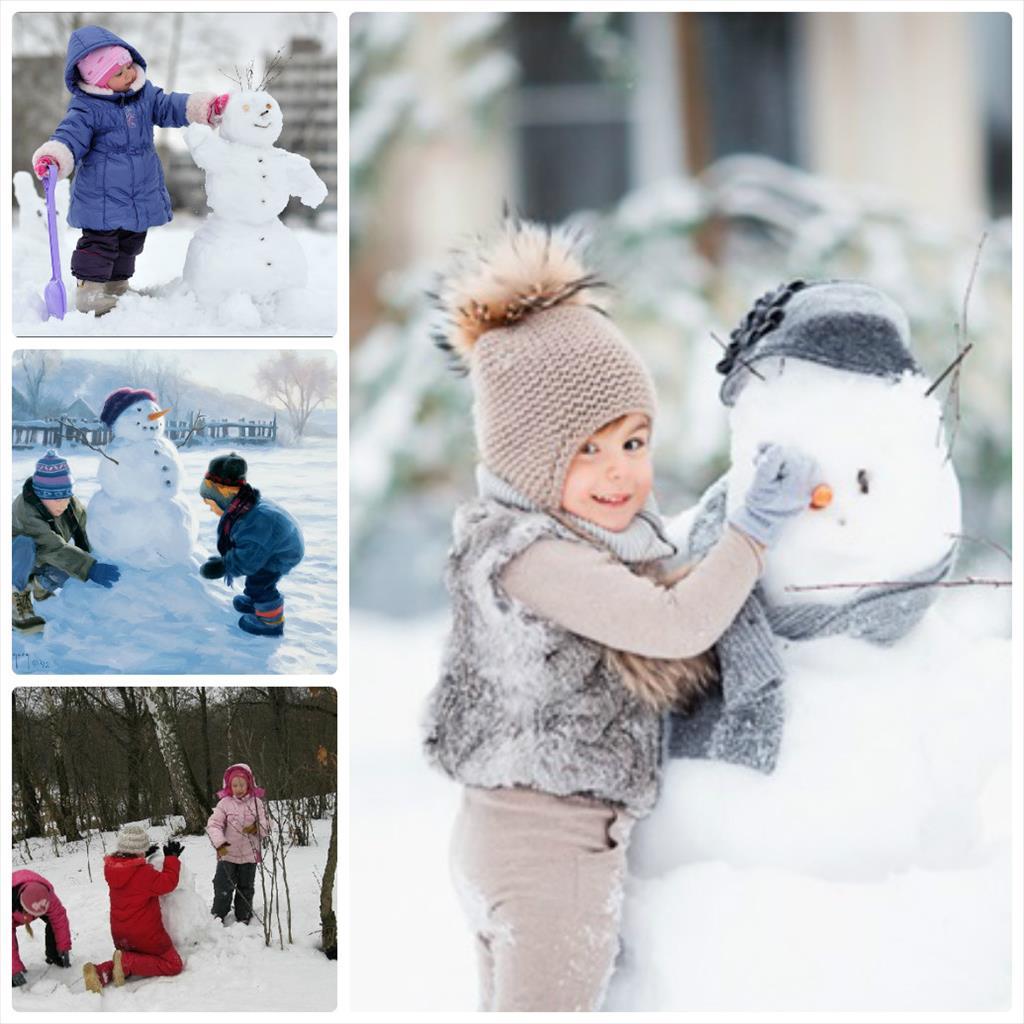 фотосессия детей зимой