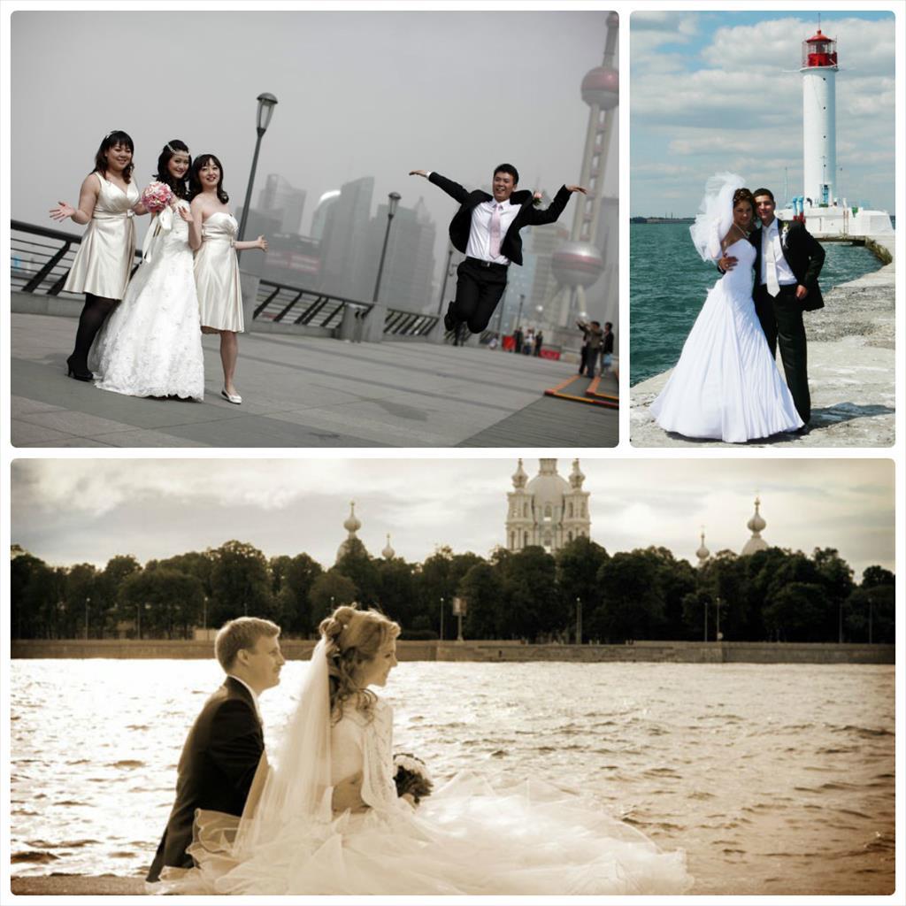 свадебные зимние фотографии