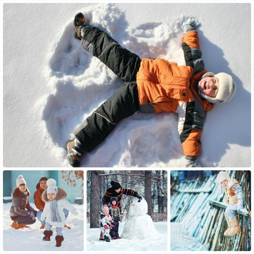 детская фотосессия зимой на улице идеи