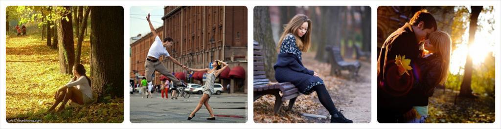 идеи для фотосессии на улице осенью