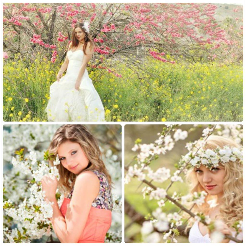 фотосессия девушка весна